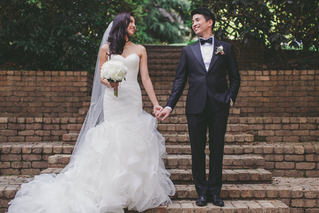 Real bride Alyssa wore Pronovias Mildred wedding dress in Melbourne