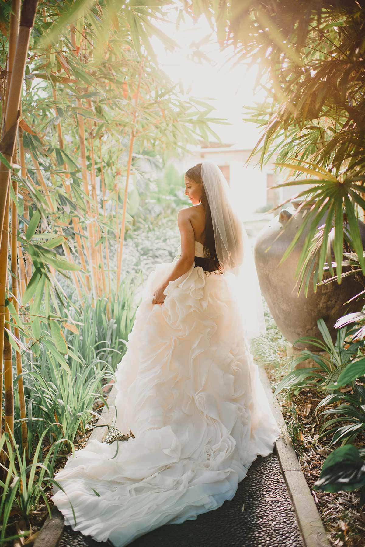 Real Bride Bec wears Sottero and Midgley gown in Bali wedding, gown from Raffaele Ciuca Bridal