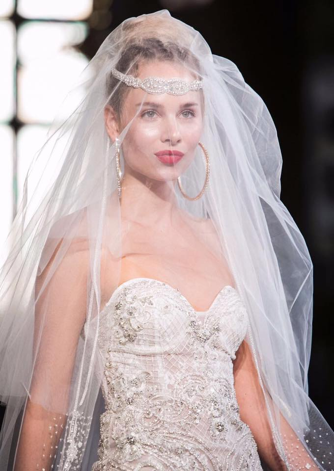 For the glamorous bride, a strong red lip with bold accessories! For the bride who wants more.