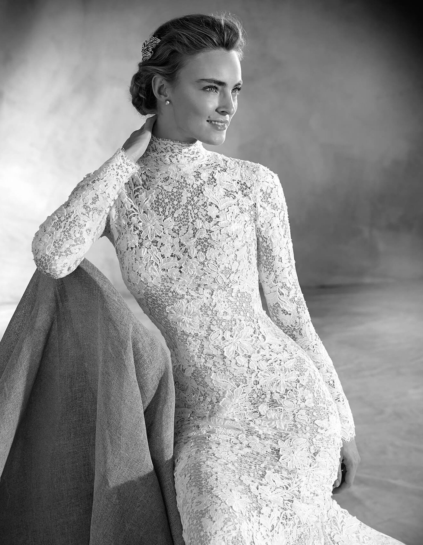 long sleeve wedding dress, modest