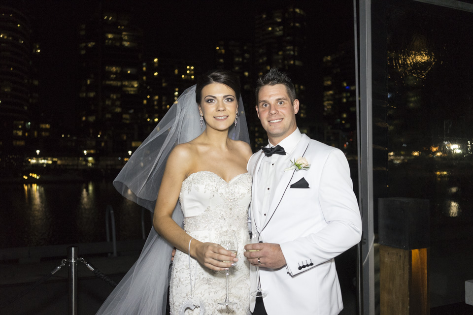 Raffaele Ciuca Real Bride Melissa married in a stunning Casablanca wedding dress.