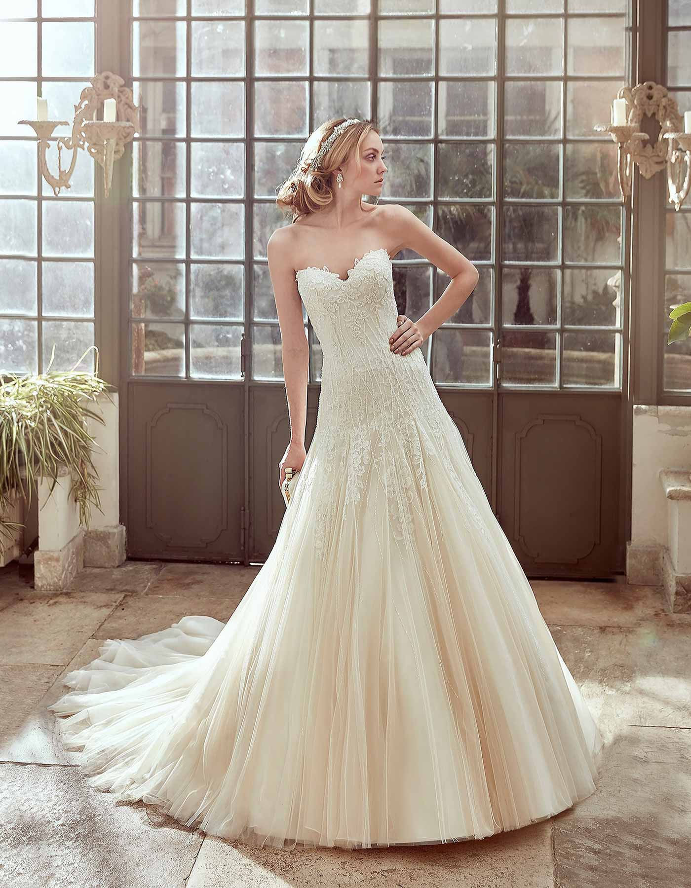 17017 By Nicole Spose Soft Floaty Ball Gown With