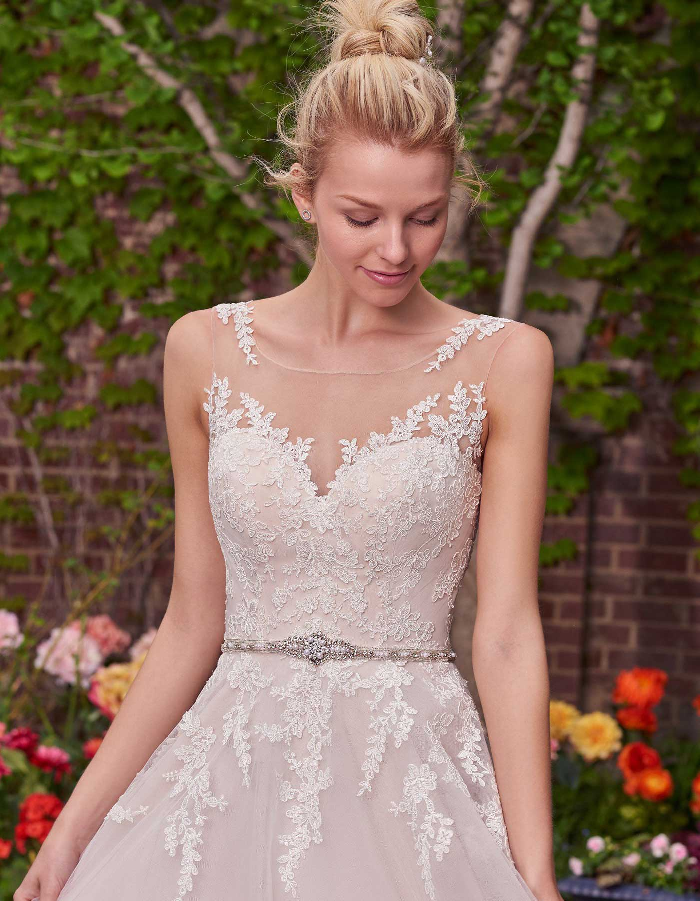 Olivia By Rebecca Ingram Maggie Sottero A Lace Ball Gown