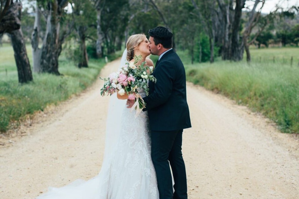 Raffaele Ciuca Bride marries in Winston wedding dress by Maggie Sottero in Melbourne
