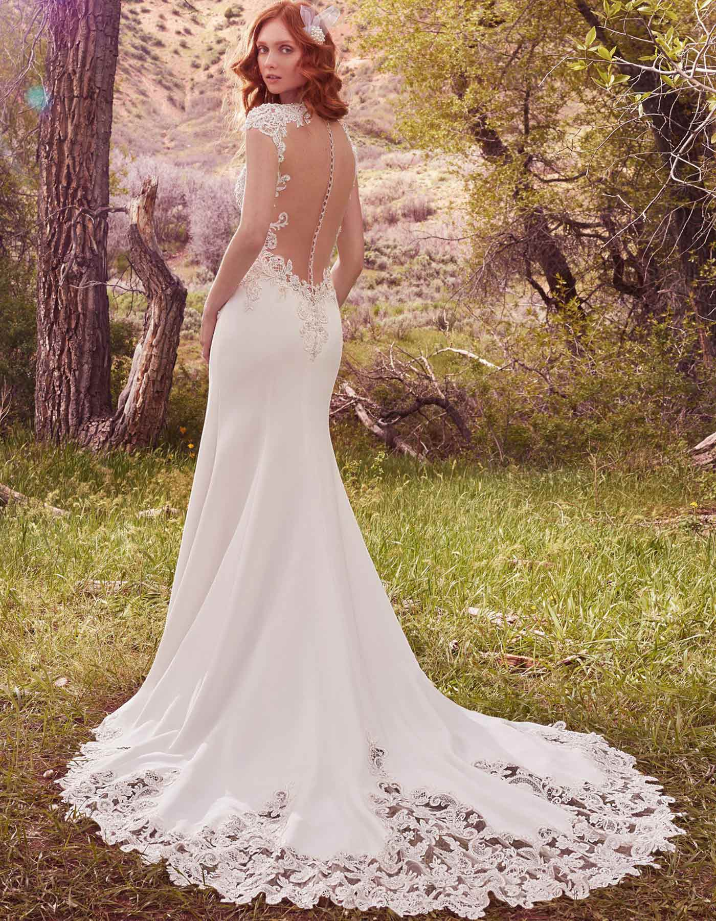 Vintage Inspired Wedding Dress With Feature Back Odette