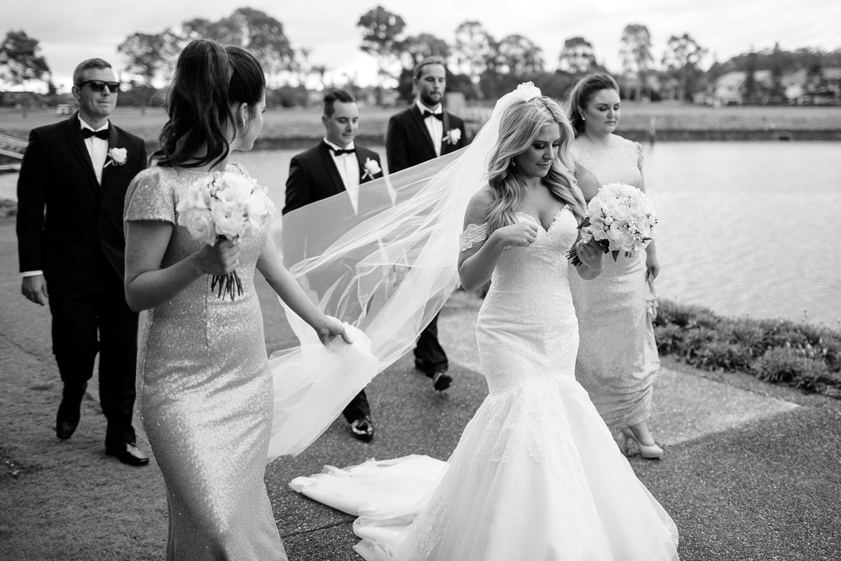 #RCRealBride Bec married in our Appolina lace wedding dress by Allure Bridals in Melbourne, Australia