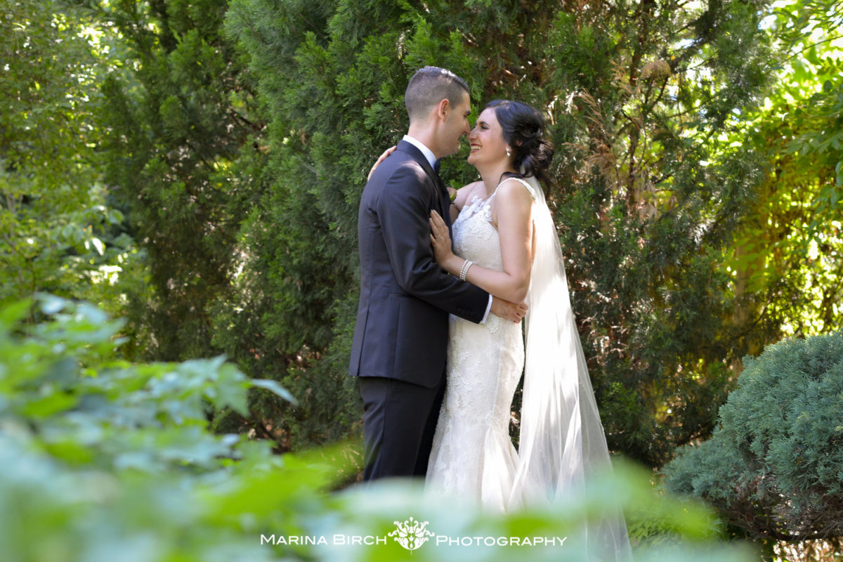 Real bride Stephanie wears Pronovias Tanit lace wedding dress from Raffaele Ciuca