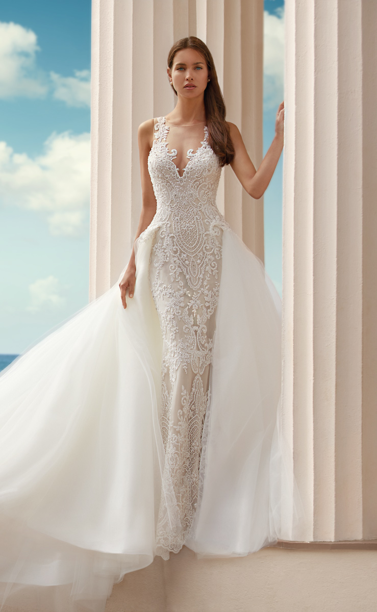 Stunning wedding dresses with overskirts