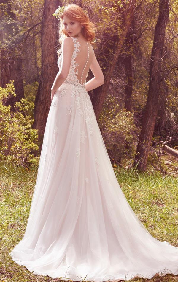 Avery wedding dress by maggie sottero back