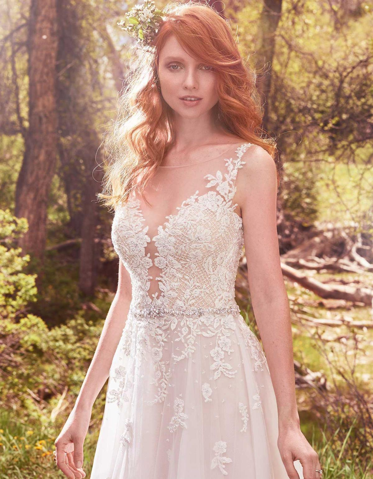 Avery lace wedding dress by maggie sottero