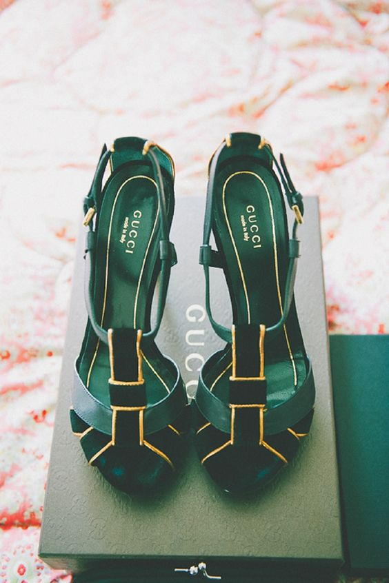 Gucci green heels