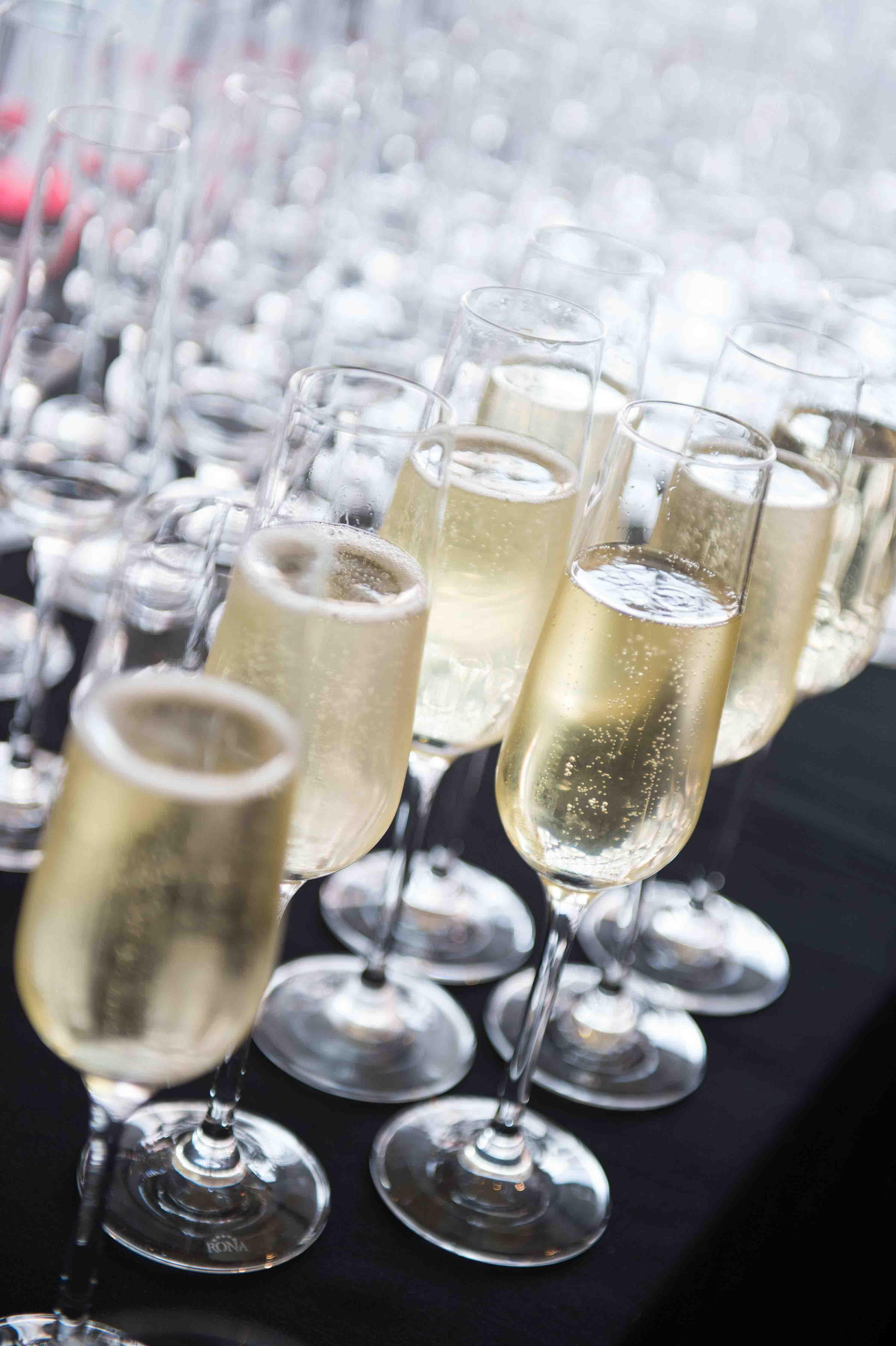 Champagne wedding event