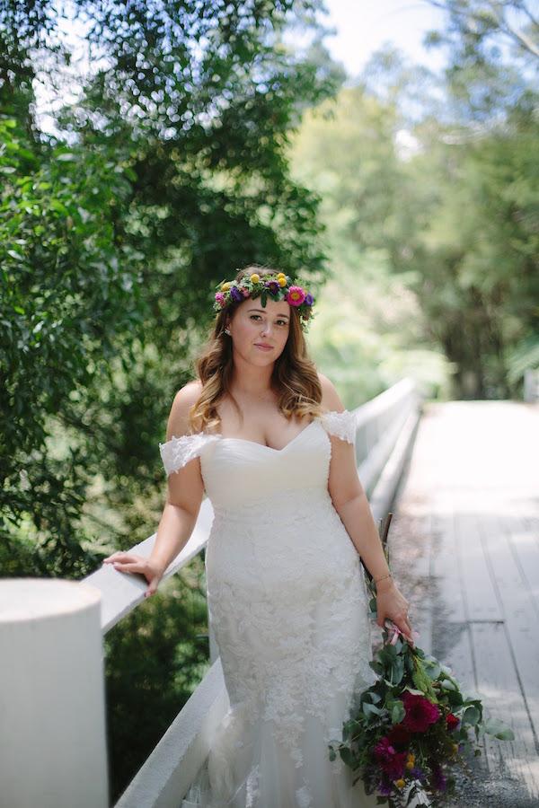Real Bride Sam married in a stunning gown from Raffaele Ciuca bridal for woodland wedding