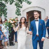 Real Bride Isabelle marries in Demetrios Platinum 330 wedding dress at Stones of the Yarra Valley