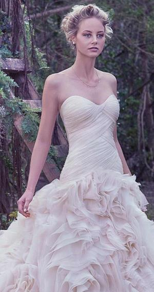 drop waist wedding dress by maggie sottero