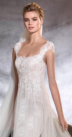 empire waist wedding dress by pronovias