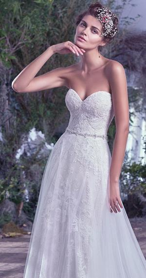 natural waist wedding dress by maggie sottero