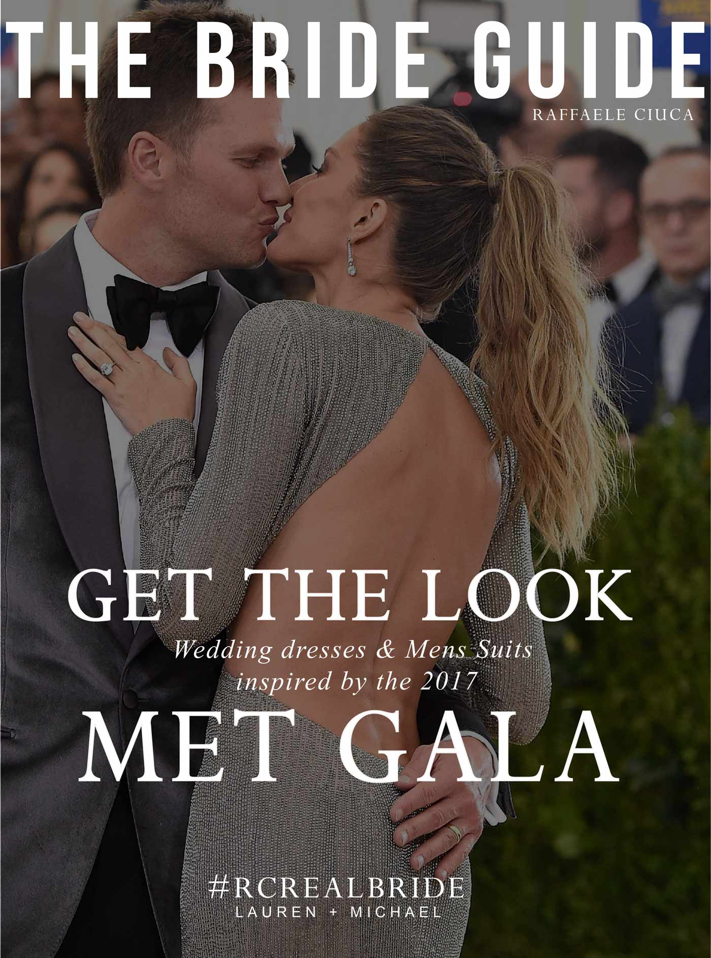 Wedding dresses and mens suits inspired by the Met Gala