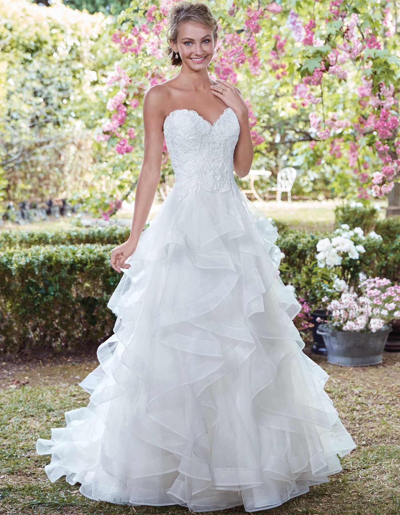 Strapless Ruffled Wedding Dress Grace By Maggie Sottero
