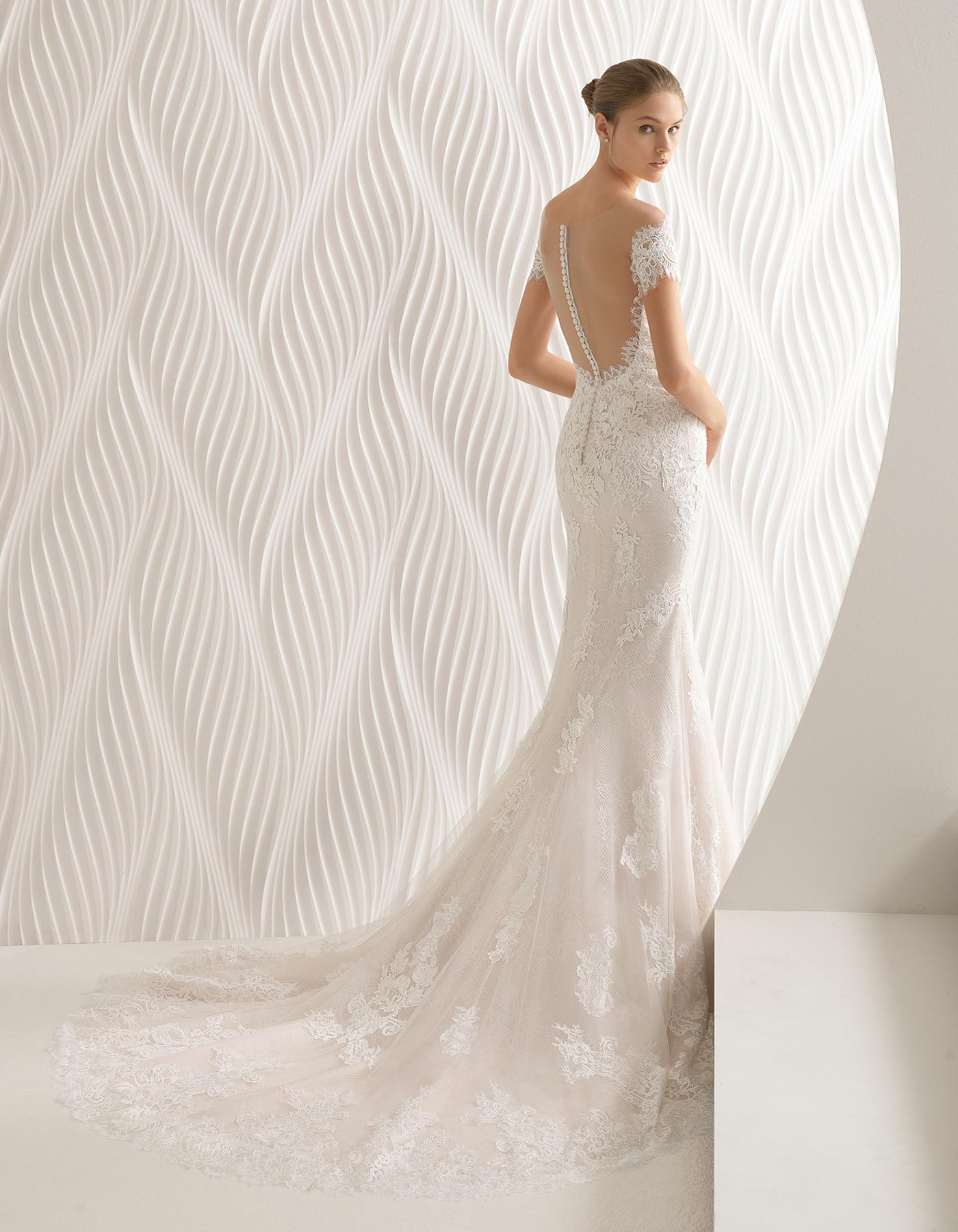 Off The Shoulder Lace Wedding Dress Abel By Rosa Clara