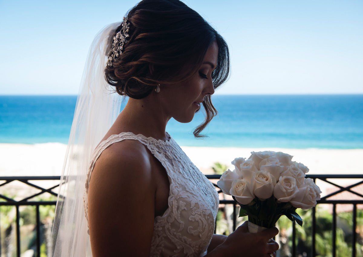 Real bride wears Winifred wedding dress by Sottero and Midgley for destination Mexico wedding