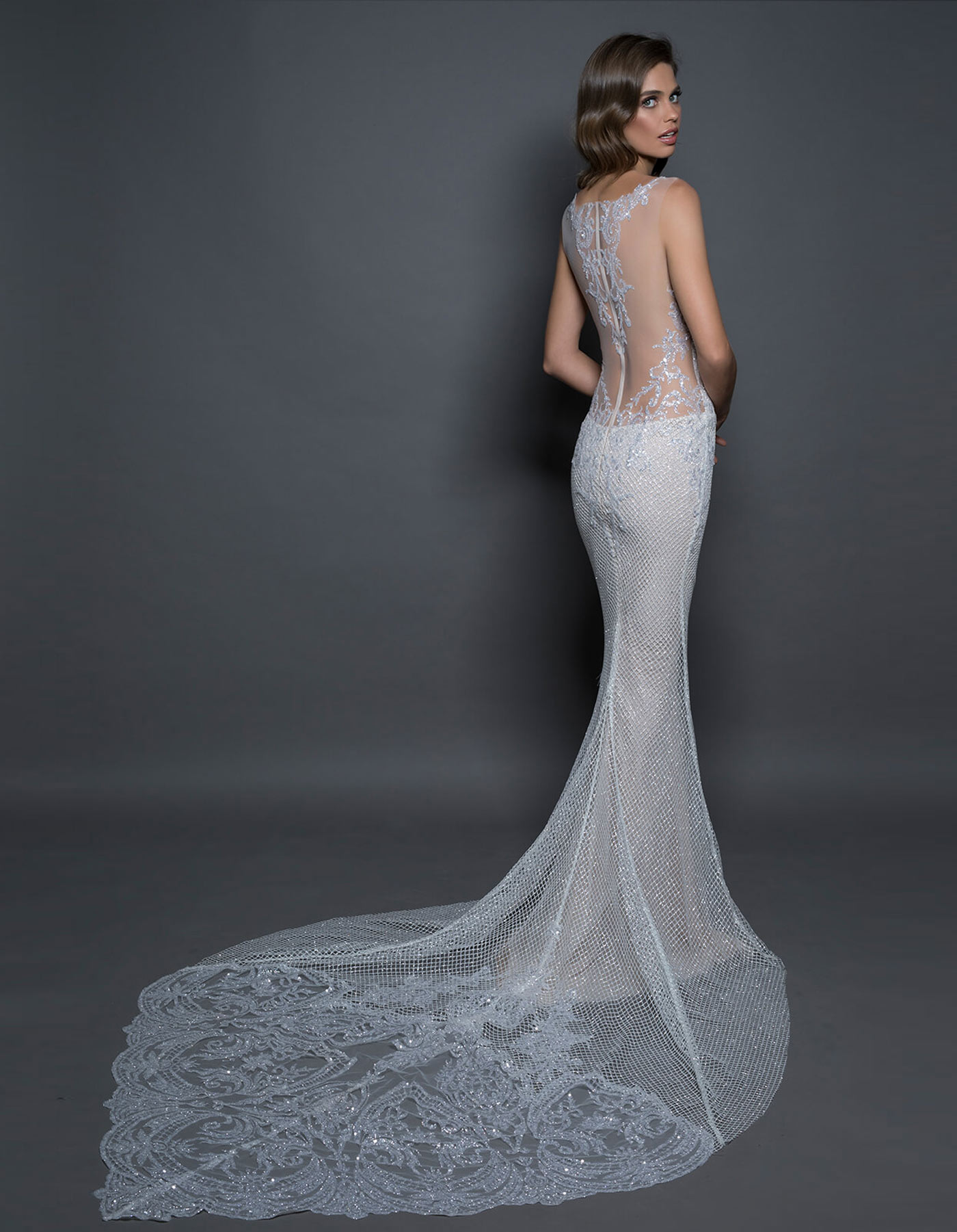 Glitter Mermaid Wedding Dress 14585 By Pnina Tornai Love