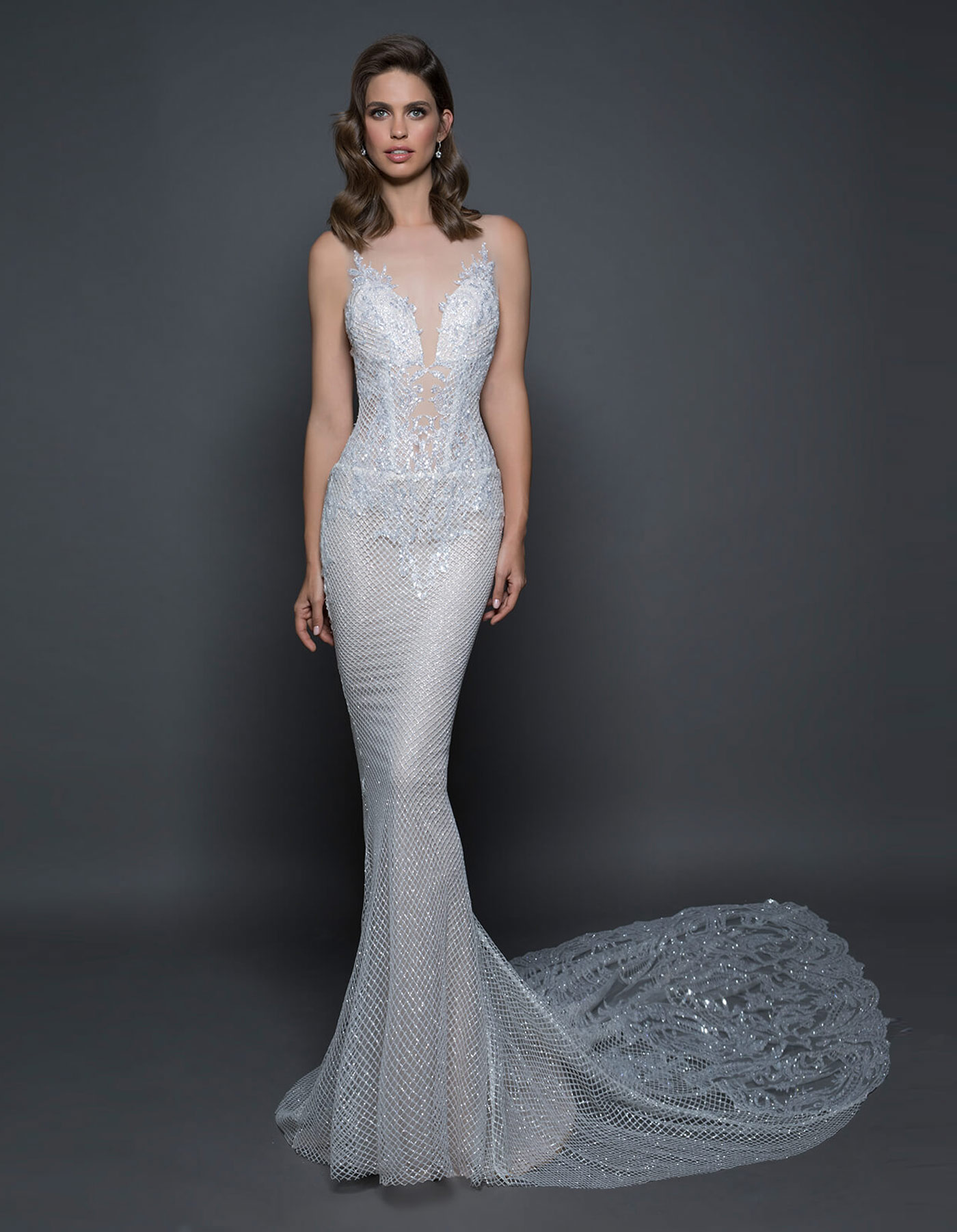 Glitter mermaid wedding dress | 14585 by Pnina Tornai Love