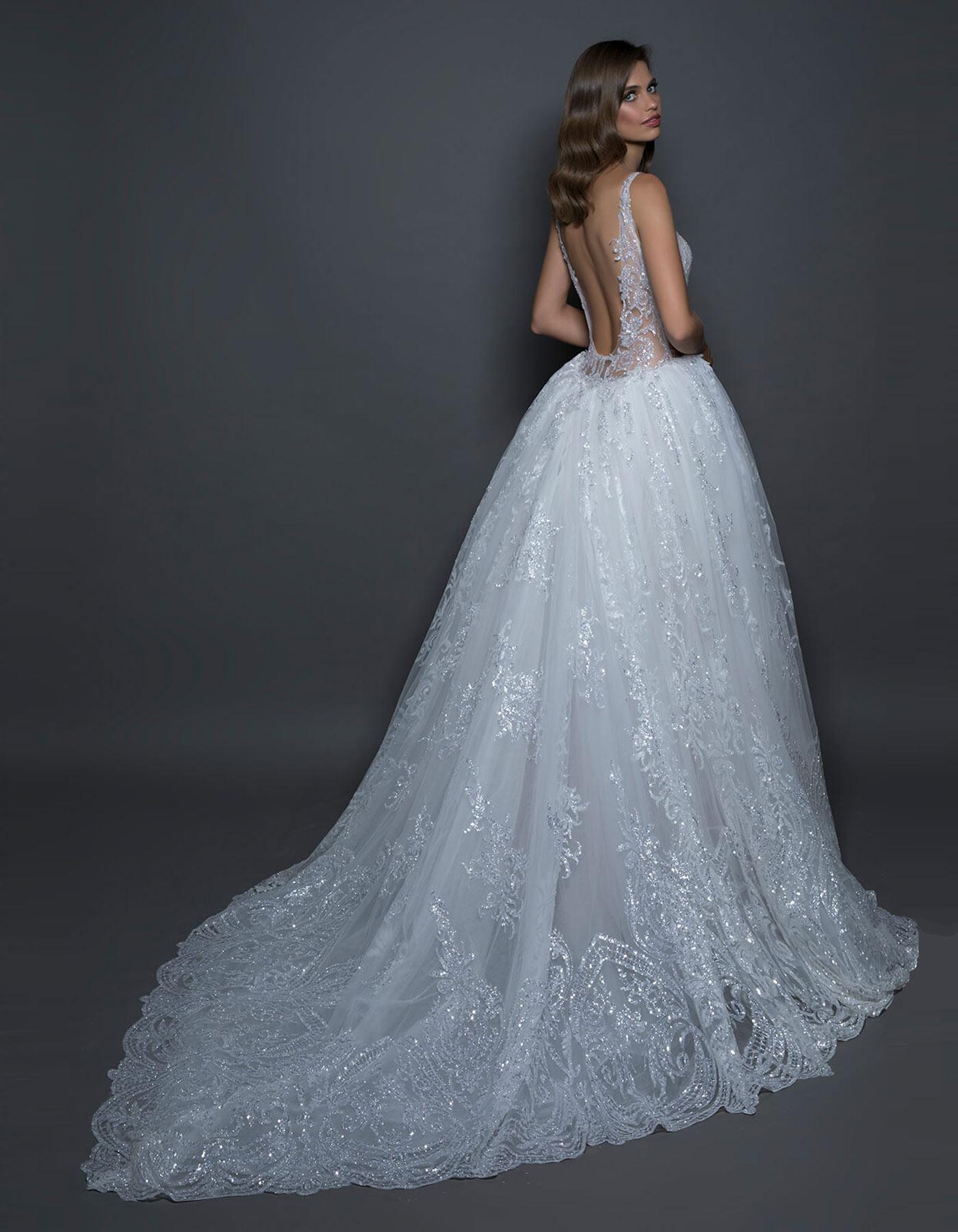 Glitter ball gown wedding dress | 14606 by Pnina Tornai Love