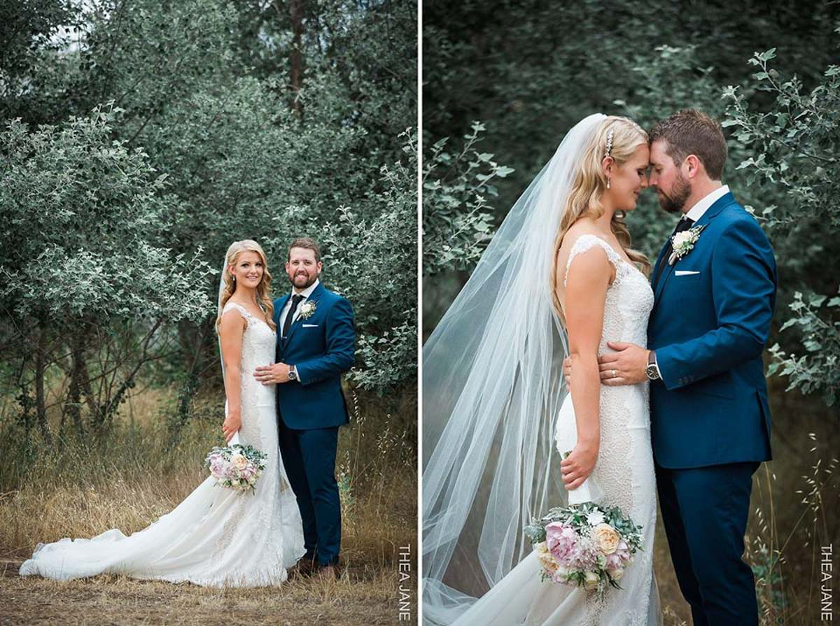 real bride wears tamar wedding dress by pronovias