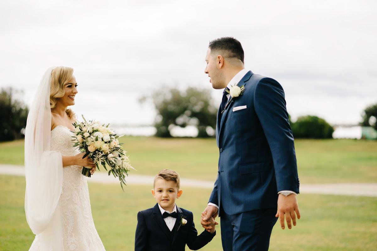 real bride wears rosamund wedding dress by maggie sottero