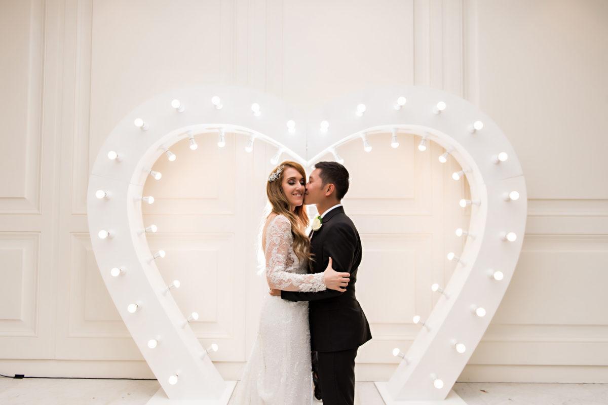Melina Vuong Demetrios Platinum Analisa RC real bride