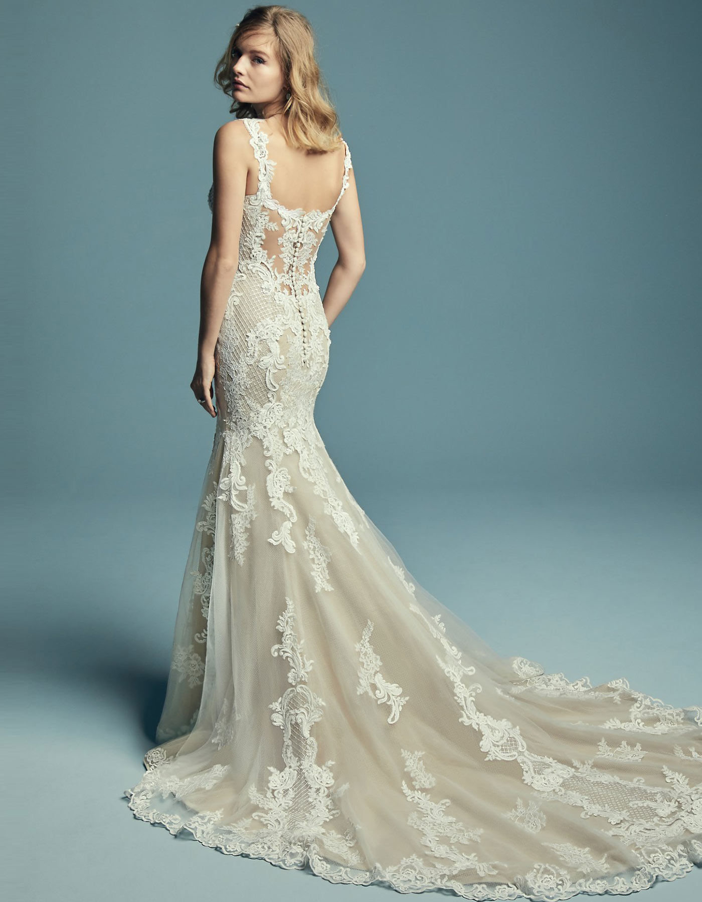Elegant fit & flare wedding dress | 13141 By Maggie Sottero