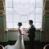 GRETA + ANGELO Rosa Clara Wedding Dress in 'Wire' - Raffaele Ciuca Real Bride