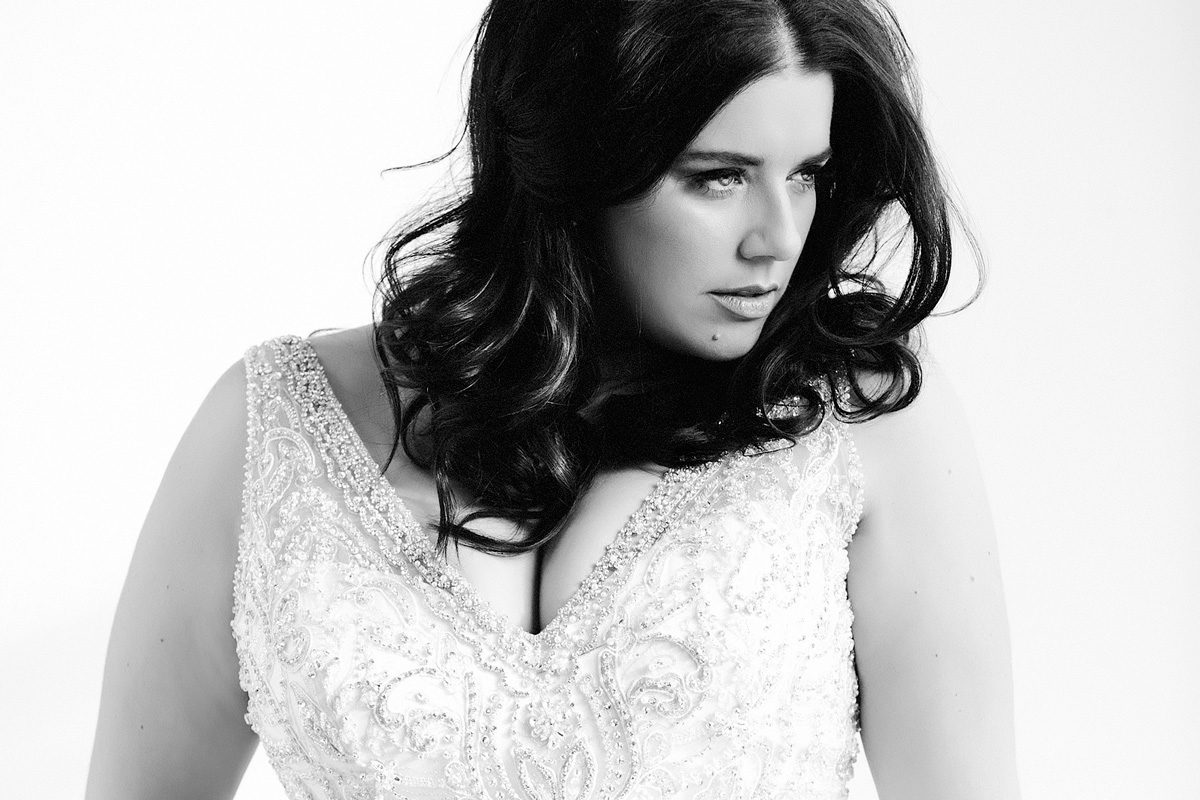 plus size wedding dress campaign photoshoot