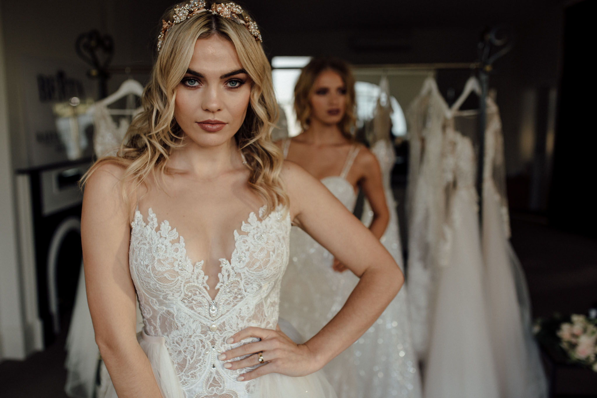 Berta Bridal photoshoot featuring style 16-25
