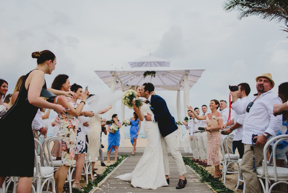 Raffaele Ciuca bride married in Bali in our Prunelle wedding dress by Pronovnas