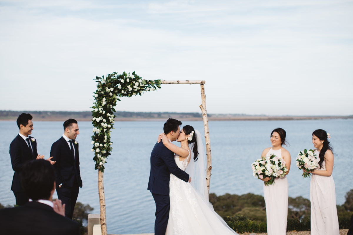 Raffaele Ciuca real bride married at Campbell Point House in the Sybil wedding dress by Maggie Sottero