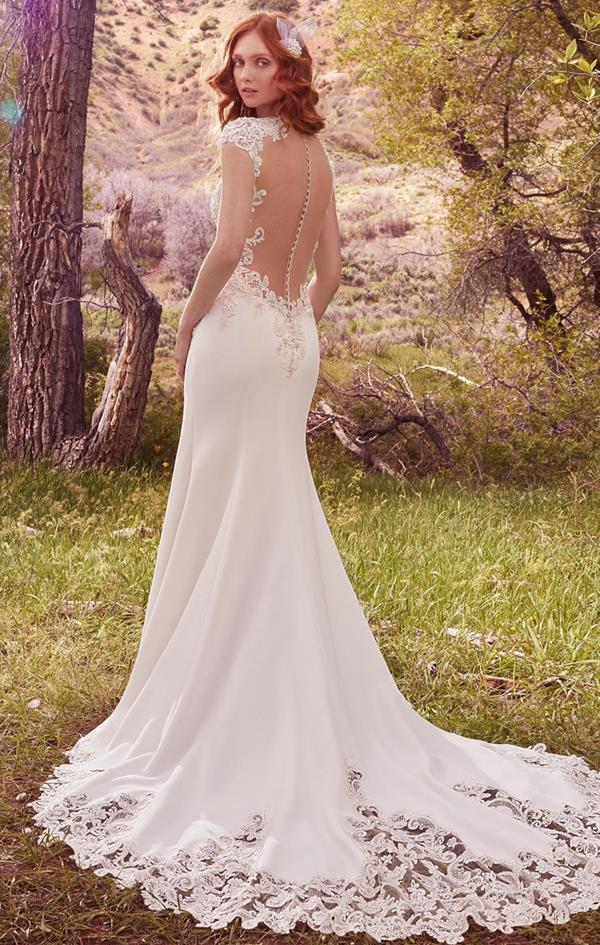 Odette lace wedding dress back