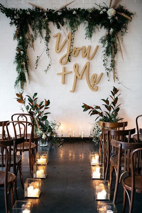 You and Me wedding sign