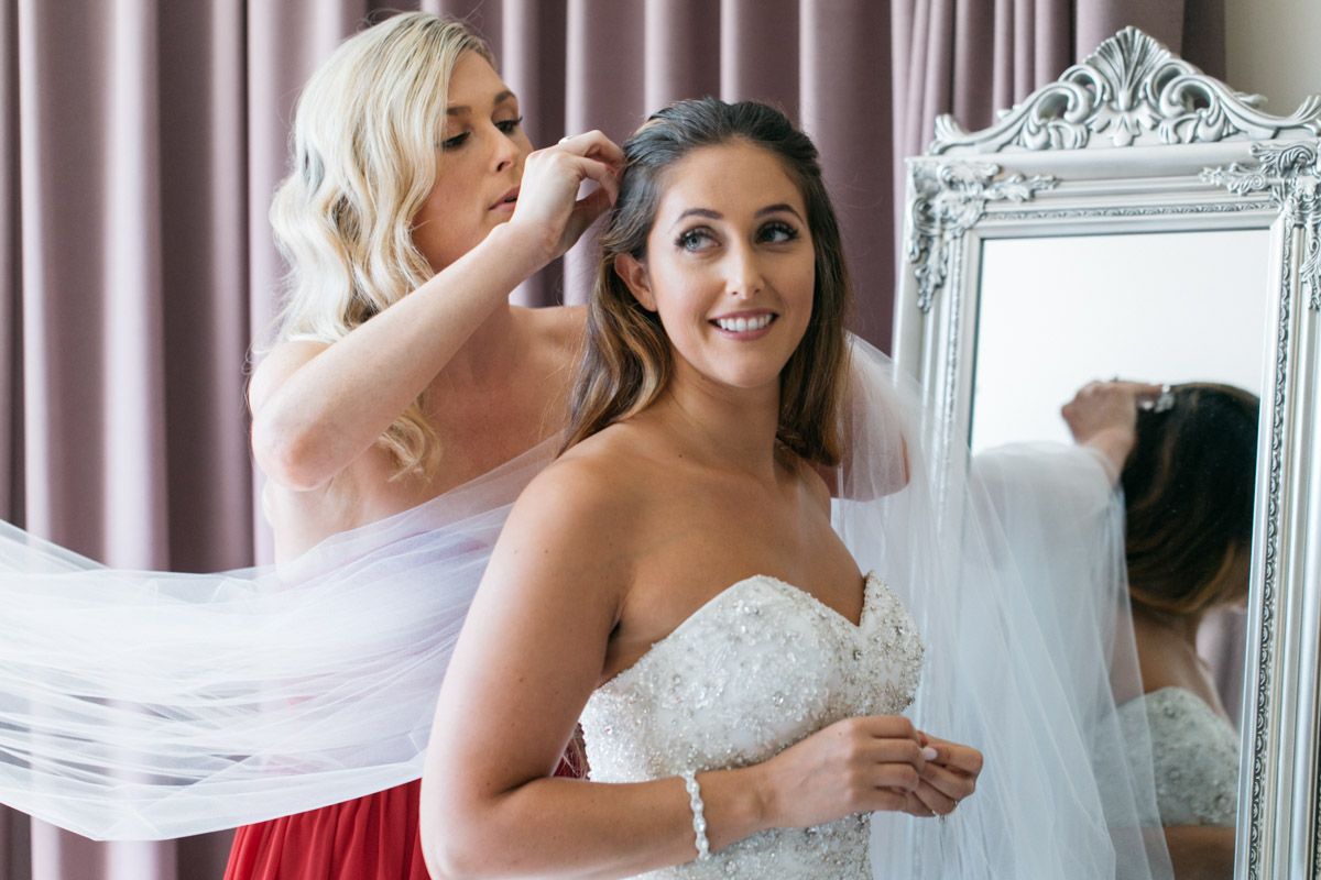 Bride getting ready morning of the wedding photo