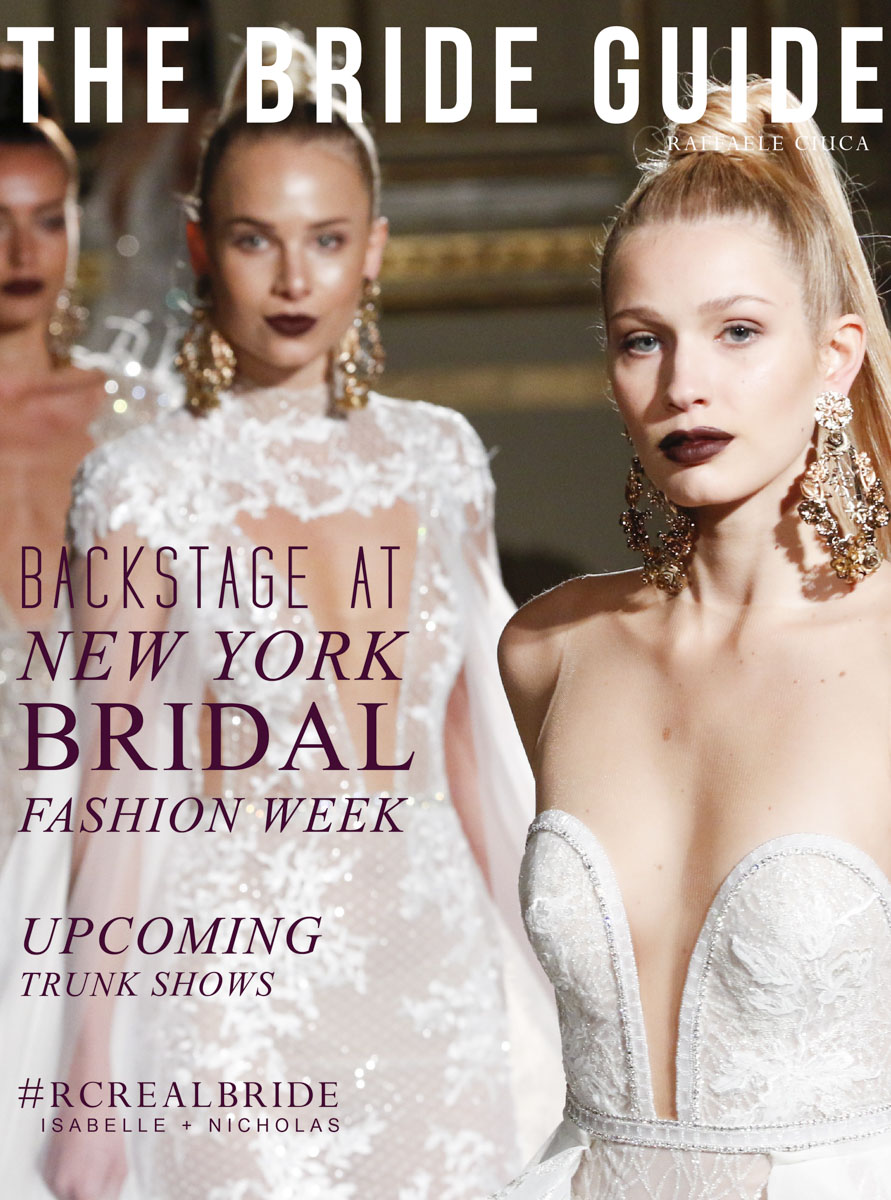 Backstage with the 2018 Berta Bridal collection New York bridal fashion week.