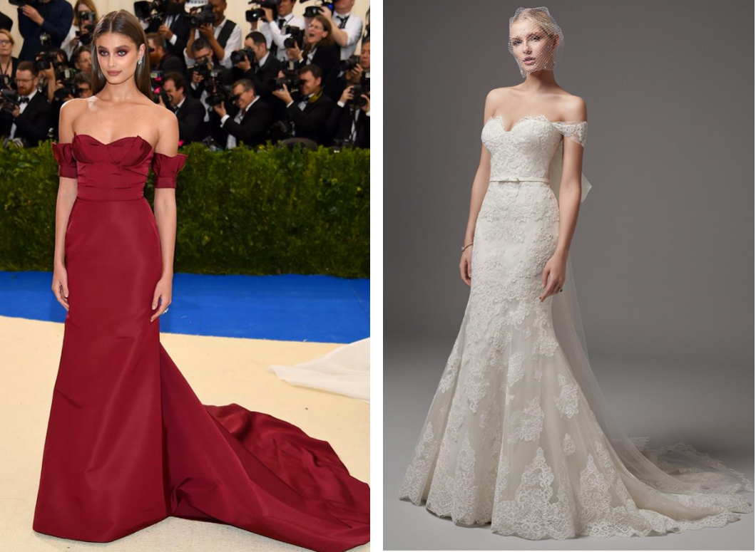 Taylor-Hill-in-Carolina-Herrera-Met-Gala-2017-Addison-by-Sottero-and-Midgely