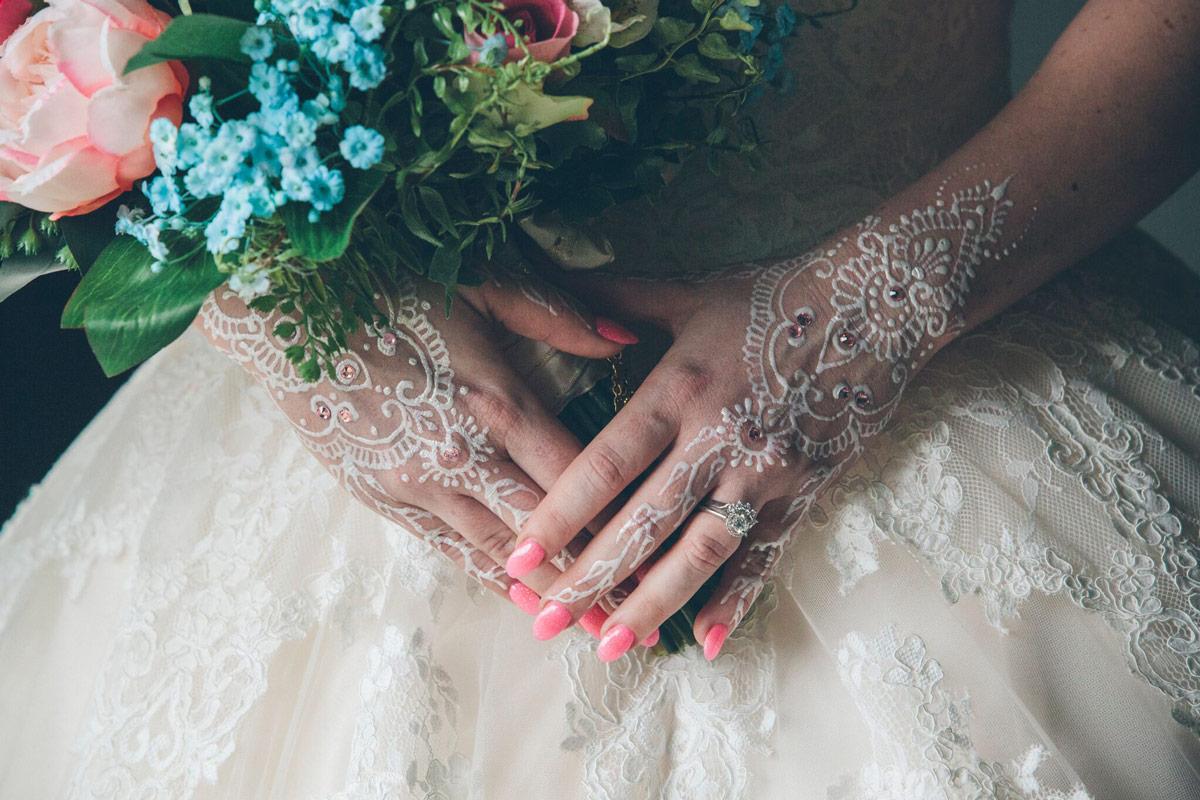 Raffaele Ciuca Bride wears Allure Bridal 9121 wedding dress for Moroccan themed wedding