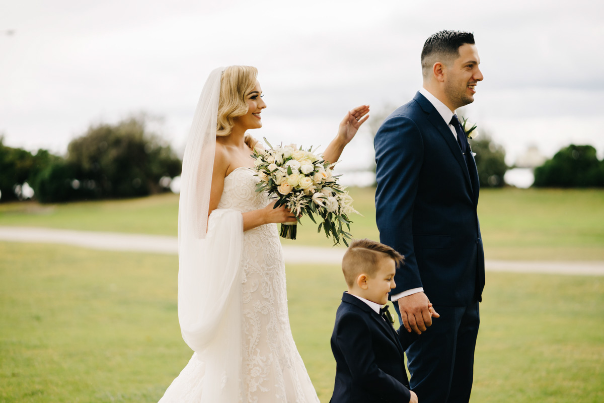 real bride wears rosamund wedding dress by maggie sottero